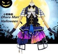 Liebe-live! sonnenschein Aqours SS Ohara Mari Halloween awakening cosplay kostüm mit Kappe freies verschiffen
