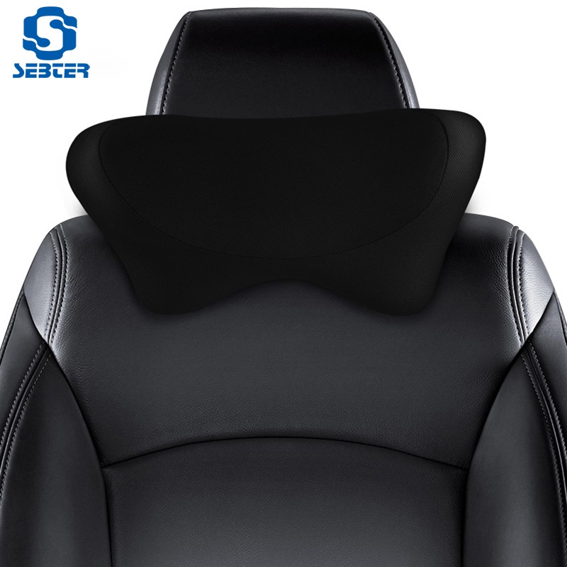 SEBTER Headrest Neck Protection Car Pillow Memory Cotton Pillow Car Seat Supplies Car Neck Protection Cervical Vertebra Pillow