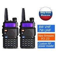 2pcs/lot UV 5R Baofeng 8W UV 8HX Dual Band VHF UHF Frequency Portable baofeng uv 9r Amateur Radio Camouflage UV 5R Walkie Talkie