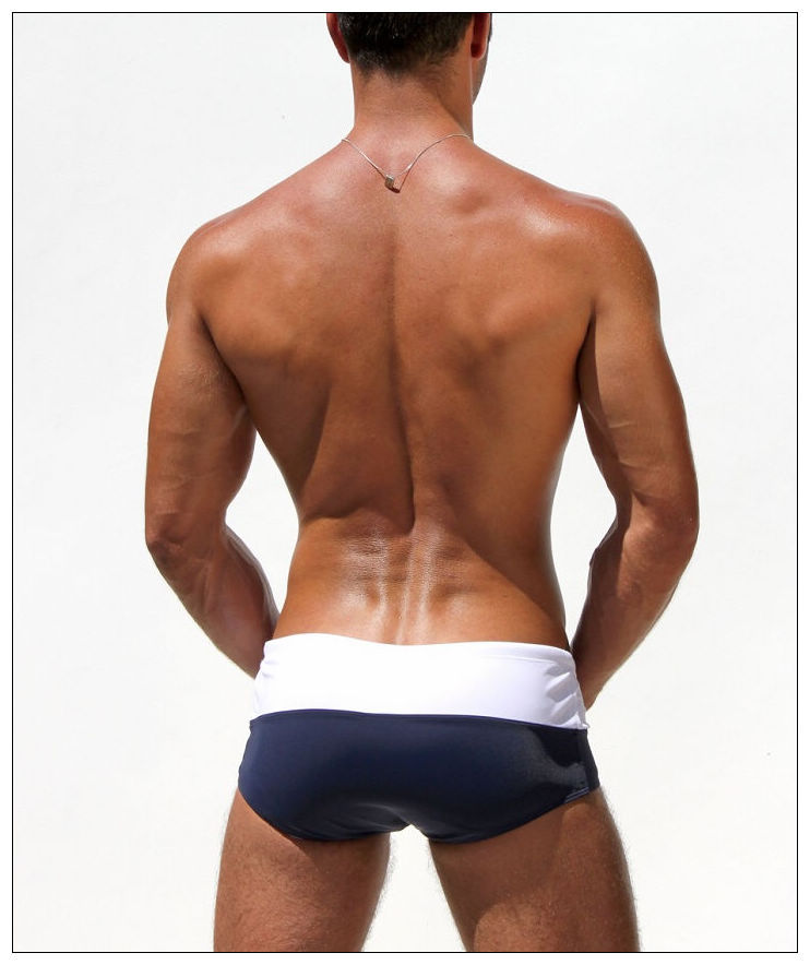 6c3ed5cefa hot style sexy new men's swimming trunk swim trunk swimwear brazilian sunga  low rise white/navy-in Men's Costumes from Novelty & Special Use on ...