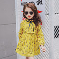 2017 new dress of girls in the spring of the new dress of the dandelion dress free shipping