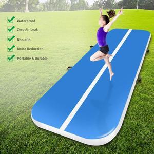 Image 4 - Colchón para gimnasia inflable de 3m, 4m, 5m, para gimnasio, pista de aire para Yoga, Olimpiadas, pista de aire, a la venta, Envío Gratis