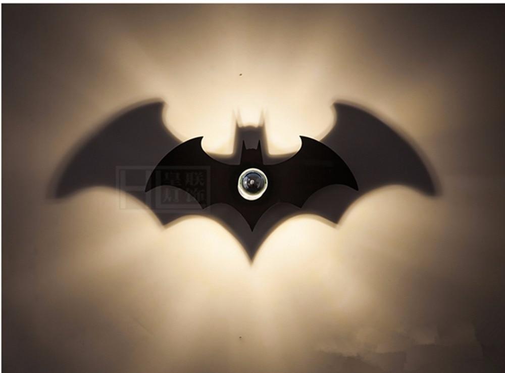 New Wood Fashion Black BATMAN Shadow Led Wall Light E27 ...