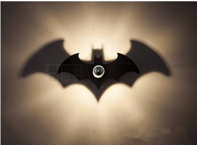 New wood fashion black batman shadow led wall light e27 for bedroom new wood fashion black batman shadow led wall light e27 for bedroom led wall sconce night mozeypictures Images