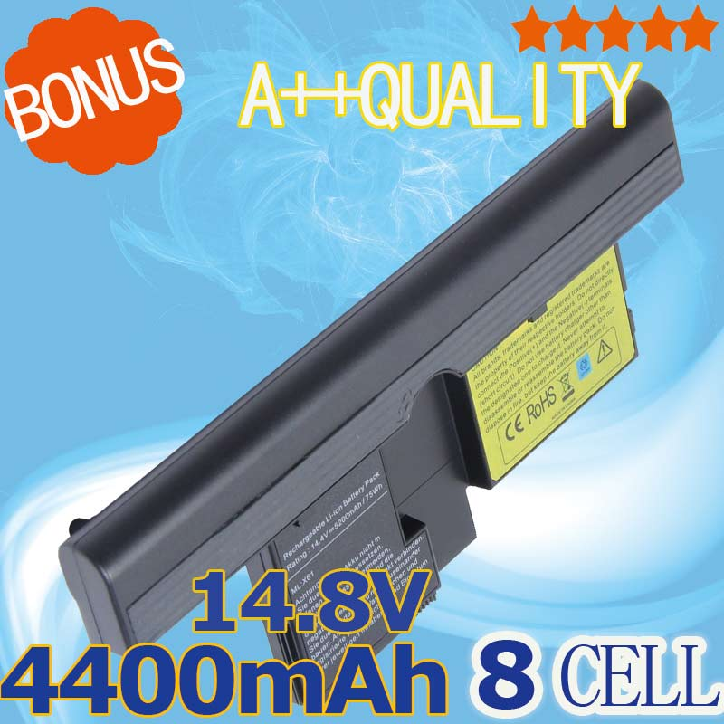 4400mAh 14.8V 8 CELLS Battery For Lenovo ThinkPad X60 X61 Tablet PC 40Y8314 40Y8318 42T5209 42T5204 42T5206 42T5208 42T5251 цена