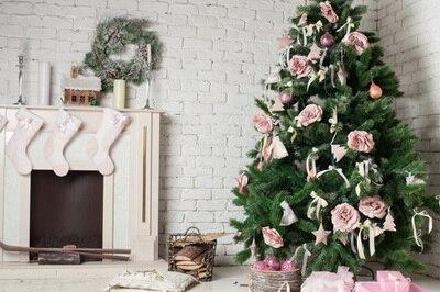 6x10ft (2x3m customizable) Christmas Photography Backdrops  Art Fabric newborn&pet Gift Photography Background D-8910