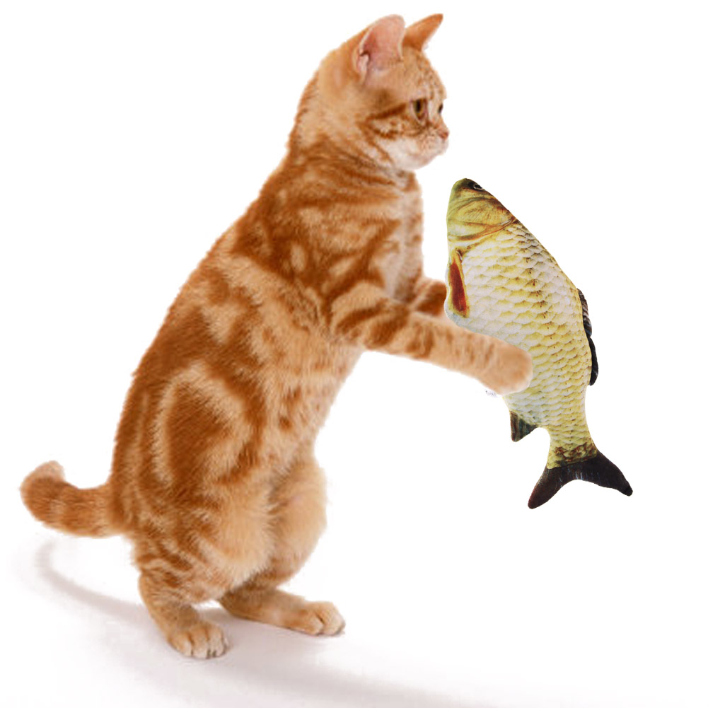 2 size S/L Pet Toy Cat Toy Stuffed Fish Interactive Cat Toys Play Chewing Rattle Scratch Catch Toy for cat relax and crazy