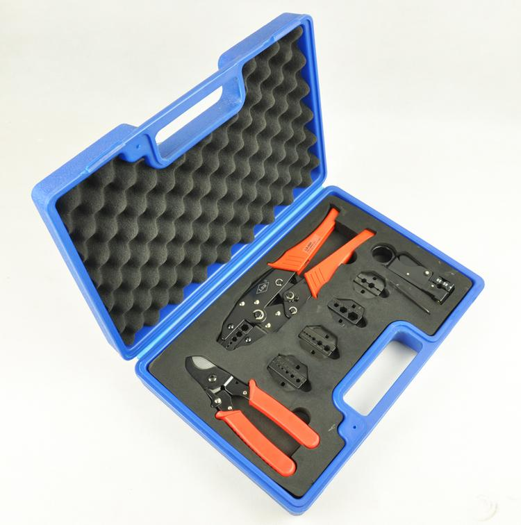 RG59 tool set Crimping/stripping/cutting combined tool set for TV cable RG55,58,59,62,5,6 cable multi function hand tool kit an 02h1 high quality hand crimping tool for coax crimping rg58 59 62