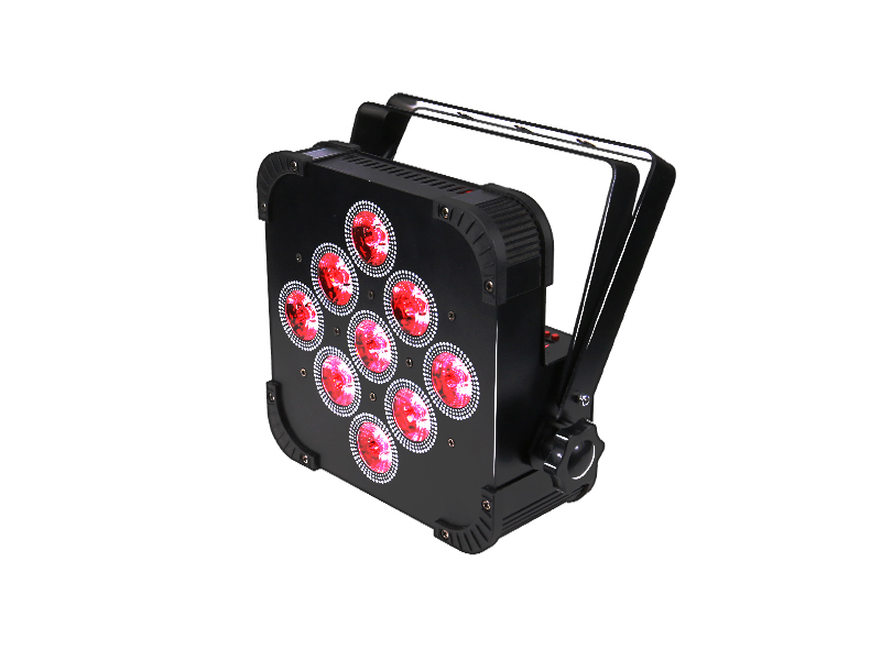 Hex Rasha 9*18W 6in1 RGBAW UV LED Slim Par Can LED Flat Par Projector For Disco Event Party Stage Light China Stage Light Par64 30lot professional sound equipment led par64 light 7x18w rgbaw uv par light effect