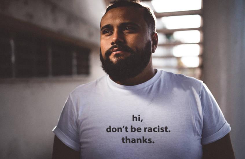 Привет не быть расистских лозунг футболка унисекс Graphic Tee расизм футболка подарок на день рождения moletom сделать tumblr футболка
