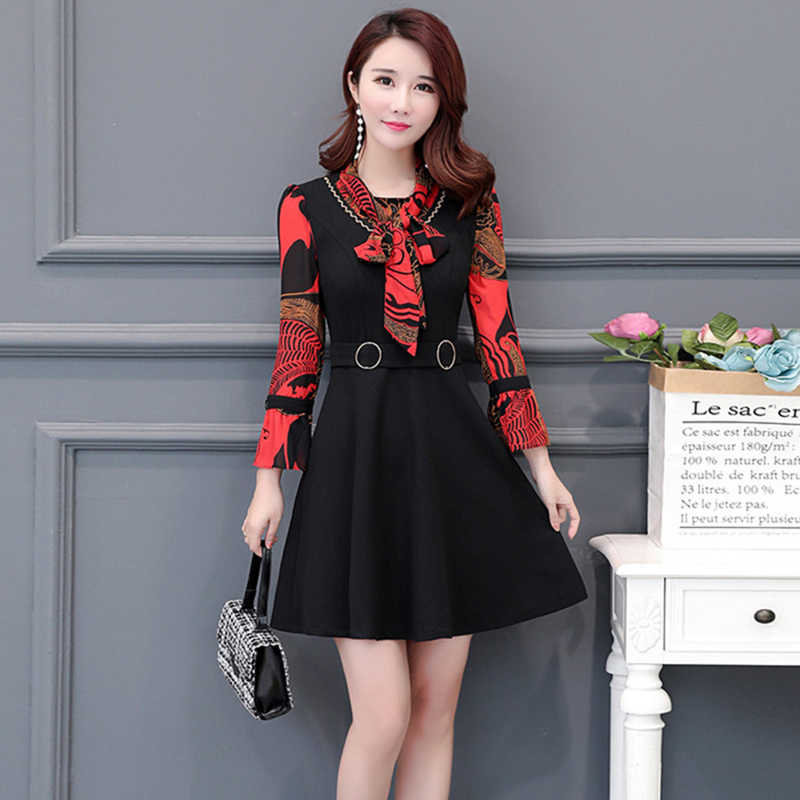 WOmen dress 2019 New Summer Large Size Dress Women casual slim short sleeved Floral Chiffon Dress Female Vestidos Plus Size 5XL