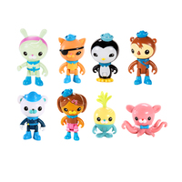 Free shiping by trackable shipping 8 figures per pack Remove original pack box original Octonauts action figures child toy gift