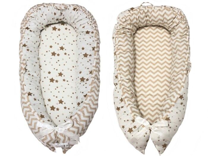 Разборные Детские гнезда кровать или малыша Размер гнезда, мята и совы, портативная кроватка, co спальное место babynest для новорожденных и малышей - Цвет: yellow tripe star