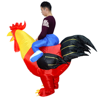 Funny Inflatable Rooster Chicken Costume Halloween Party Fancy Costume For Adults Carnival Costumes Christmas Birthday Gift