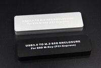 New USB 3.0 to M.2 M Key PCI Express SSD ENCLOSURE hard disk box For ssd M Key ( PCI Express ) support 2230/2242/2260/2280