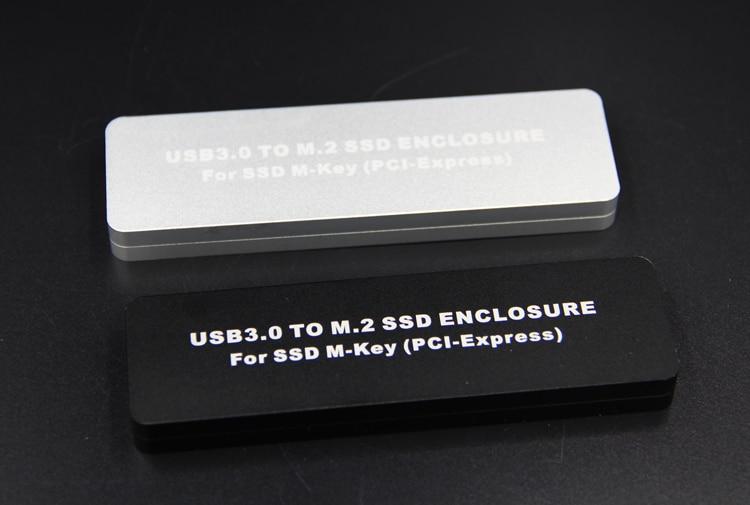 New USB 3.0 to M.2 M-Key PCI-Express SSD ENCLOSURE hard disk box For ssd M-Key ( PCI-Express ) support 2230/2242/2260/2280 цена
