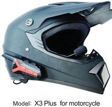 X3 Plus Bluetooth с дистанционного walkie talkie BT мотоцикл шлем 1,5-3 км Интерком домофонных гарнитура 2 способ радио