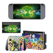 Rick and Morty Skin Sticker vinyl for NintendoSwitch Sticker Skin for Nintendo Switch NS Console and Joy-Con Controller