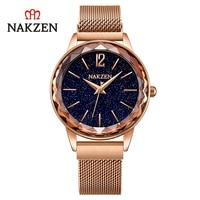 NAKZEN fashion waterproof women's watch net red watch starry sky iron watch SS4206L