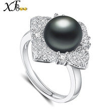 [XF800]Pearl Jewelry Natural Freshwater Pearl Ring 10-11mm Engagement Vintage Wedding Brands Fine Jewlery[J207]