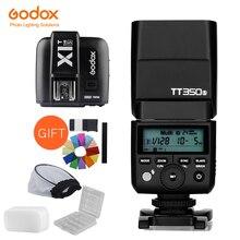 Godox Mini Speedlite TT350S kamera flaşı TTL HSS GN36 + X1T S Verici Sony Aynasız DSLR Kamera A7 A6000 A6500