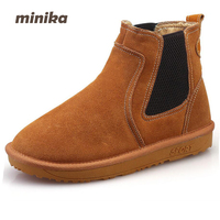 New Winter Shoes 2017 Women Boots Casual Ankle Boots Women Slip On Flats Platform Shoes With