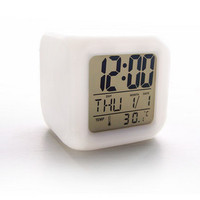 Glowing LED Change Digital Alarm Clock Creative Cute Cartoon Table Alarm Clocks For Child Kids Bedroom
