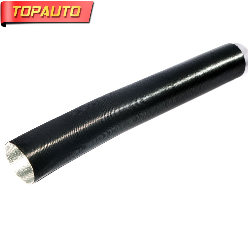 TopAuto 90mm Air Intake Pipe Outlet Pipe Aluminum Foil Corrugated For Webasto Eberspacher Air Parking Diesel Heater Accessories universal air intake filter silencer muffler for webasto eberspacher air diesel parking heater tank air filter separator