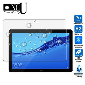 Szkło hartowane dla Huawei MediaPad T5 10 2018 10 1 cala ochrona ekranu tabletu folia ochronna dla Huawei T5 10 9H folia szklana tanie i dobre opinie 1 Paczka Odporne na zarysowania TEMPERED GLASS for Huawei MediaPad T5 10 10 1 inch (AGS2-W09 L09 L03 W19) NGU NEVER GIVE UP