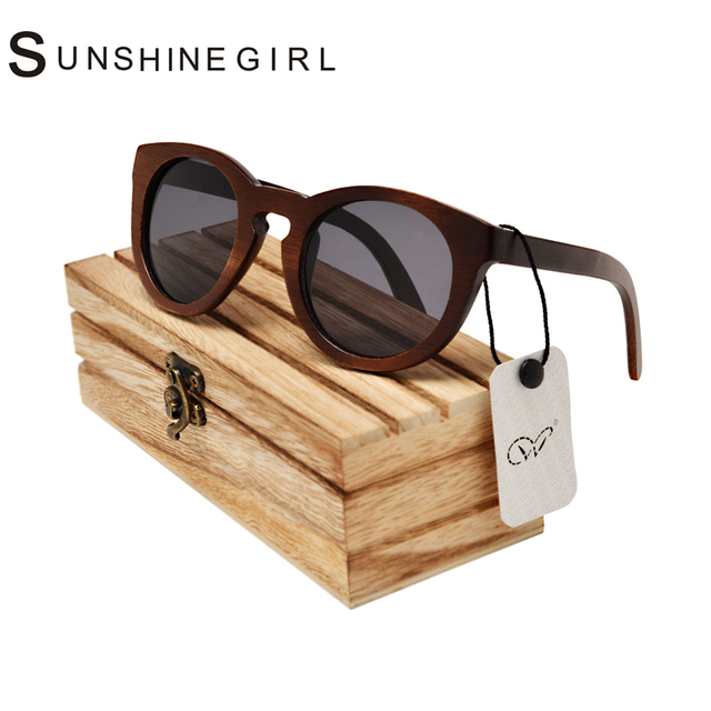 13 Colors Juliet Proof Glasses DU Wooden Round  Sunglasses Has a Diamond Yellow Polarized Lenses Driver Proof Glasses