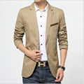 1pcs Men Plus size slim fit blazer jacket coat plus size 2017Spring Fashion Pure cotton blazer Men Casual Skinny jacket coat boy
