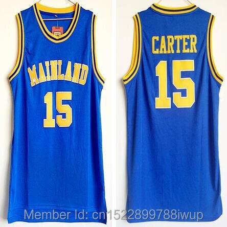 2018 Mens Dwayne Cheap Throwback Basketball Jersey Vince Carter Jersey #15 Mainland High School Blue Vintage Basket Jerseys