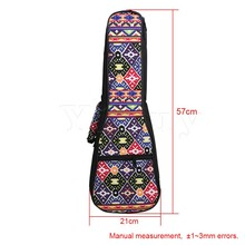 Yibuy 21 Inch Ukulele Fancy Purple Pattern Double Shoulder Carry Bag Guitar Backpack Adjustment Belt & Thickened Cotton Handle