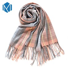 Winter Wool & Cashmere Plaid Long Scarves – Oversize