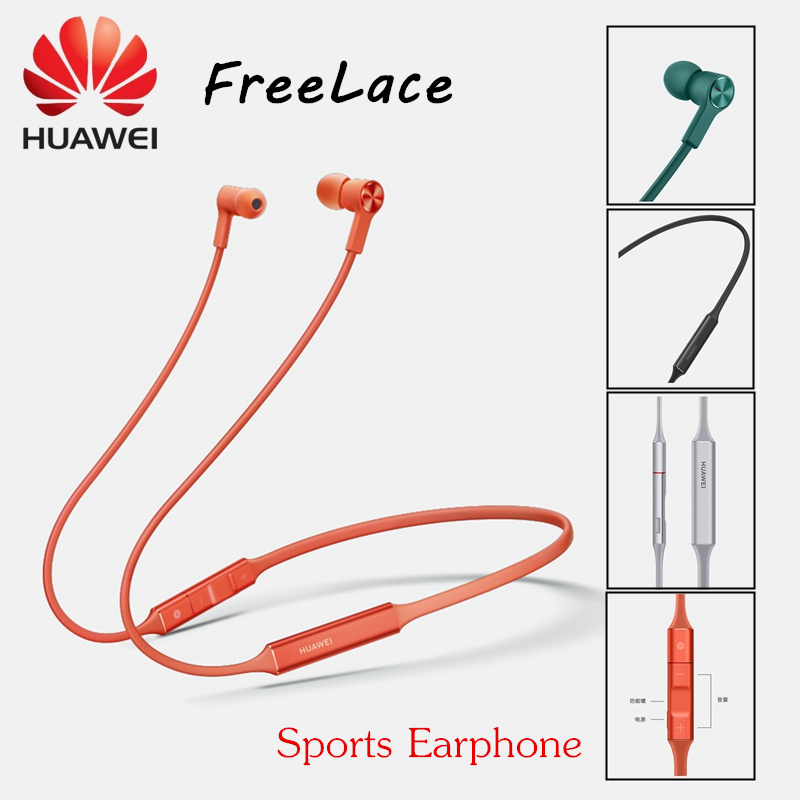 Original Huawei FreeLace Sports waterproof IPX5 in ear Bluetooth headset Memory metal cable Smart magnetic switch