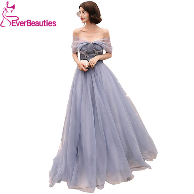 Aliexpress.com : Buy Evening Dress Long Tulle Backless Evening Gowns ...
