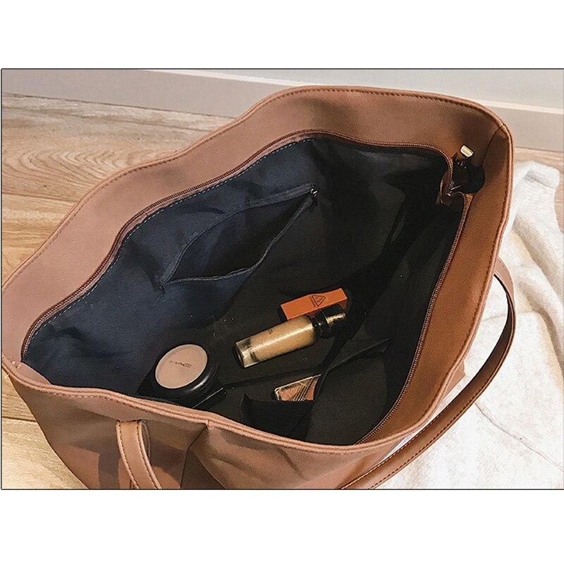 Le Glorria Bag Big 2019 Dello Tote Bag Pelle brown Donne Scamosciata Della Borsa Bag Femminile Sac Casual Shopping Grande Tracolla Per Borse Capacità Delle khaki gray Black A Messenger Bag SrtwHxrqRZ