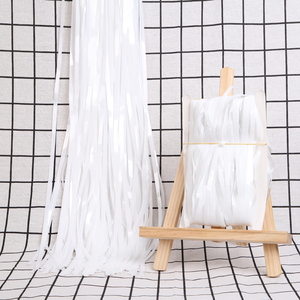 Image 5 - 2M Tinsel Rain Solid Party Backdrop Curtain Birthday Party Decorations Adult Kids Wedding Photograph Backdrop Fortnight Party