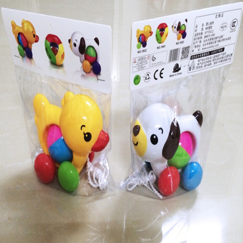 Toddler Baby Toys Traditional Pull Along Duck Dog Plastic Toys For Children Sounds Toy Newbrons Baby Learn Walk Toy Rattles