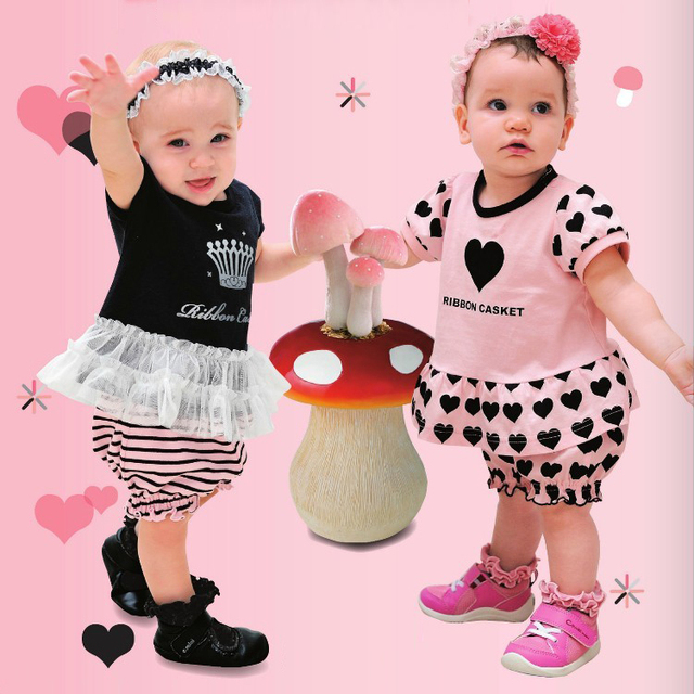 Openable-crotch baby clothes 0-1 year old black clothing girls clothing baby clothes short-sleeve baby clothes bb set