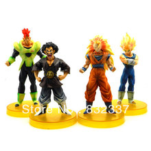 Japanese Anime Cartoon Dragon Ball Z GT Action figure 4PCS/SET Free Shipping