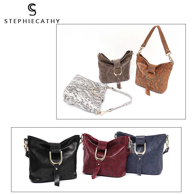 083ce449047a ... SC брендовая модная женская сумка-мессенджер женская сумка из натуральной  кожи высокого качества змеиный принт ...