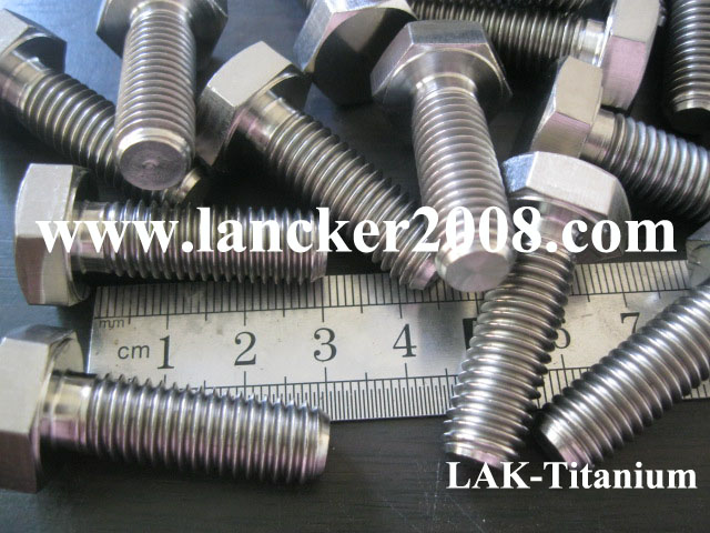 <font><b>M10</b></font>*1.25*30 Hexagon <font><b>titanium</b></font> bolt/<font><b>screw</b></font> Gr2 DIN933 image
