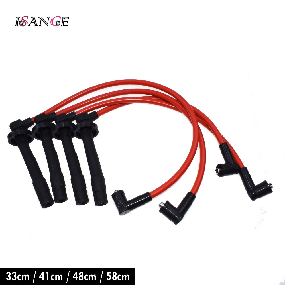ISANCE 10.2mm Ignition Spark Plug Wire Cable Set D16Z6 D15B7 D15B8 For Honda Civic DX LX CX EX SI 1.5L 1.6L 1992 1993 1994 1995