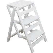 Stool Ladder-Rack Folding Portable Indoor Small Household Wood Space Free-Installation