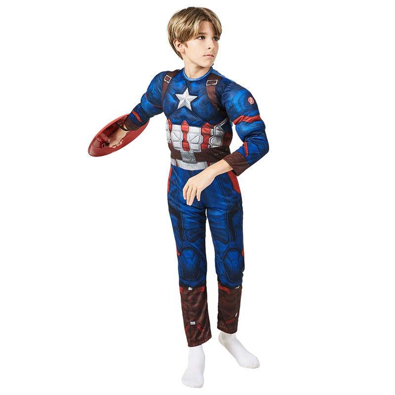 Child Marvel Comics The Avengers Superhero Captain America Halloween Cosplay Carnival Fancy Dress Party Costume on AliExpress