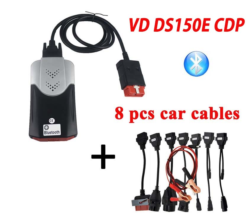 FreeShip 2019 VD DS150E CDP Bluetooth 2016.R0 mit Keygen auf cd Diagnose für delphis Autos lkw OBD2 obdii Scanner tcs cdp pro