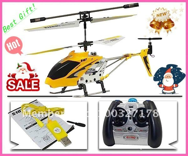 SYMA S107G RTF S107 RTF 3CH Rc Helicopter mini metal Heli,With GYRO & usb & Aluminum Fuselage English package + Free shipping