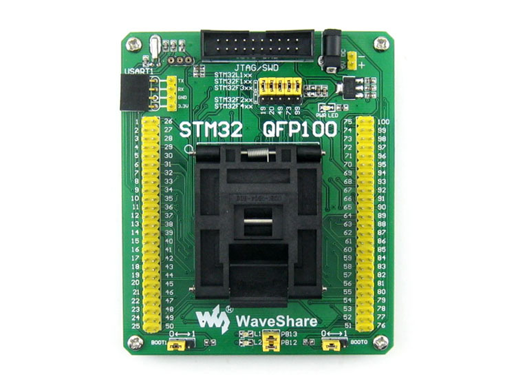 STM32-QFP100 QFP100 TQFP100 FQFP100 PQFP100 STM32 Yamaichi IC Test Socket Adapter 0.5mm Pitch ad9957bsvz 9957 tqfp100