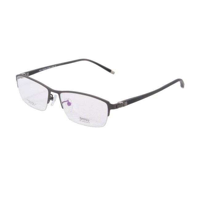 New arrival Homens metade sem aro de Titânio puro Armações Óculos Óculos Da Moda Óculos de Miopia Quadro Quadros de Negócios com caixa 6152
